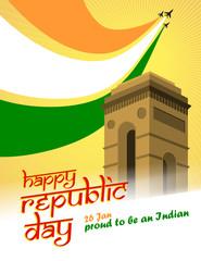 Republic Day India Illustration