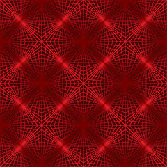 red lattice like folded paper forms crest