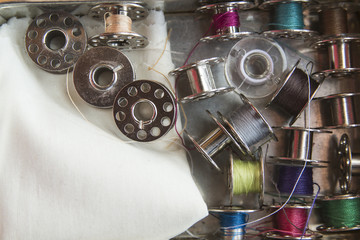 Spools of sewing machine