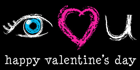 Love You Chalkboard