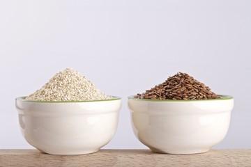 crusca acena e semi di lino