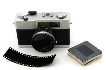 Kamera mit Negativ und Dia