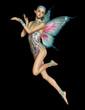 Obrazy na płótnie, fototapety, zdjęcia, fotoobrazy drukowane : Floating Purple Fairy, 3d CG CA