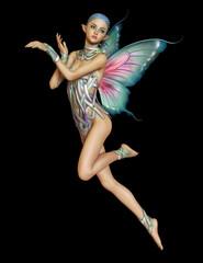 Floating Purple Fairy, 3d CG CA