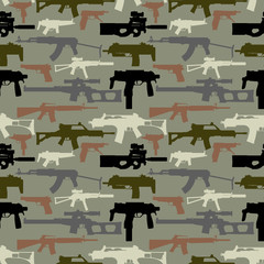 Background seamless depicting weapons