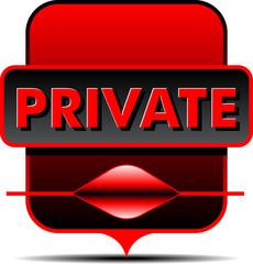 icon private content
