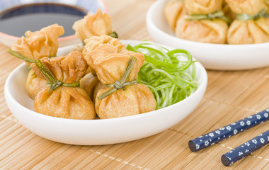 Wonton - Oriental deep fried wontons filled with vegetables.
