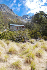 Backcountry Hut on Travers-Sabine Circuit, Nelson Lakes NP
