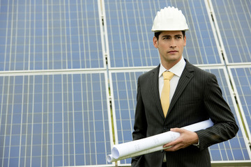 Engineer At Solar Power Station