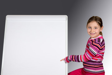 Young Girl with Message Board