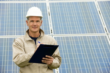 Inspection Visit At Solar Power Station