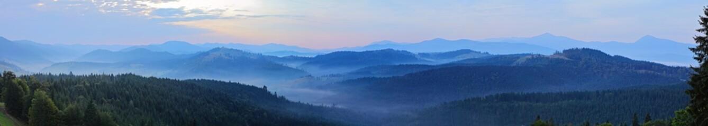 Ukrainian carpathian mountains panorama