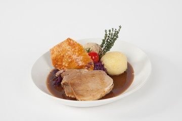 roast pork with dumpling