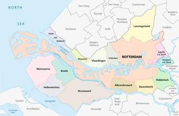 region rotterdam administrative map