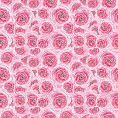 watercolor pink rose pattern