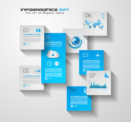 Modern UI Flat style infographic layout for data display