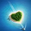 Paradise Island in the form of heart - 76170590
