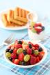 Dessert with fresh berries