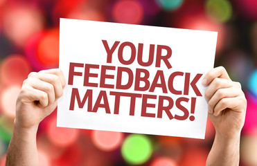 Your Feedback Matters card with colorful background