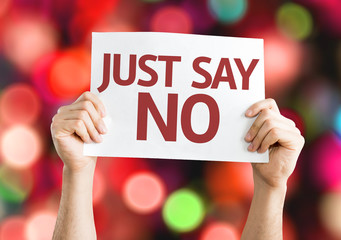 Just Say No card with colorful background