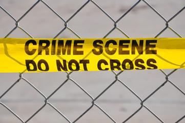 Close up of Crime Scene Do Not Cross