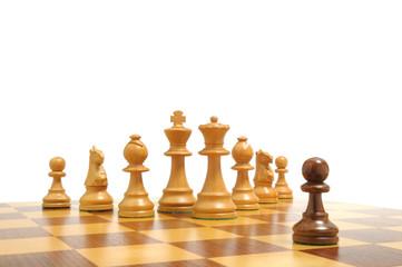 Einer gegen alle - Alle gegen einen - Schachfiguren auf Brett 3