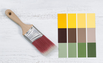 New hand paint brush and future several color sample templates