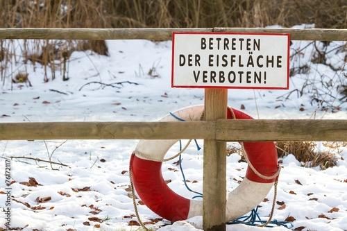 canvas print picture Einbruchgefahr!