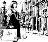 Women shopping in Paris