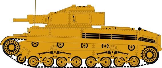 German battle tank