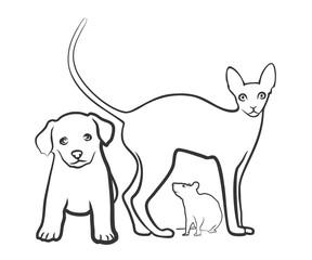 Кошка, Собака, Мышь