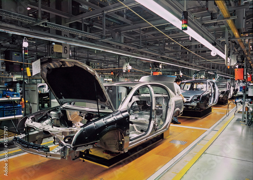 Leinwandbild Motiv car production line