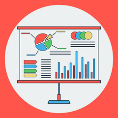 Business presentation vector concept