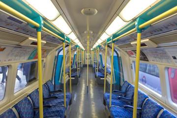 Underground train of London tube