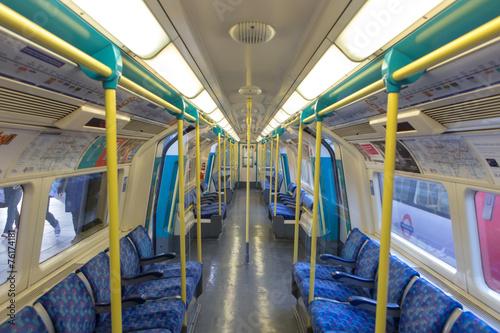 Underground train of London tube - 76174181