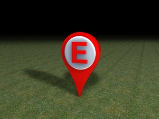 Segnaposto indicatore E