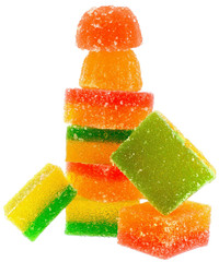 Tower multicolored candy