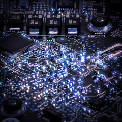 Printed Circuit Board and microchips
