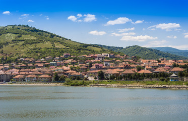 Port city Orsova on Danube river
