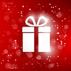 Vector gift web icon