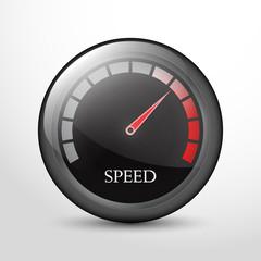 speedometer web flat icon