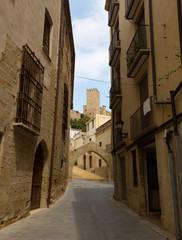 Narrow street in  Tortosa