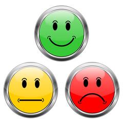 Smileys grün gelb rot  #140116-04