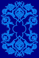blue artistic ottoman motif series