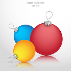 Vector Christmas ball background icon illustration.