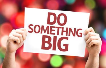 Do Something Big card with colorful background