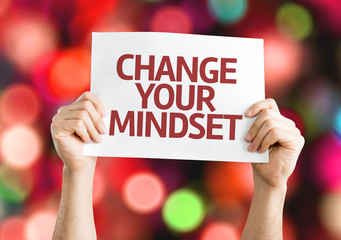 Change your Mindset card with colorful background