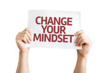 Change your Mindset card isolated on white background