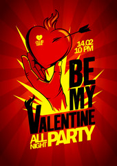 Be My Valentine party design.