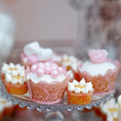 Delicious wedding cupcakes